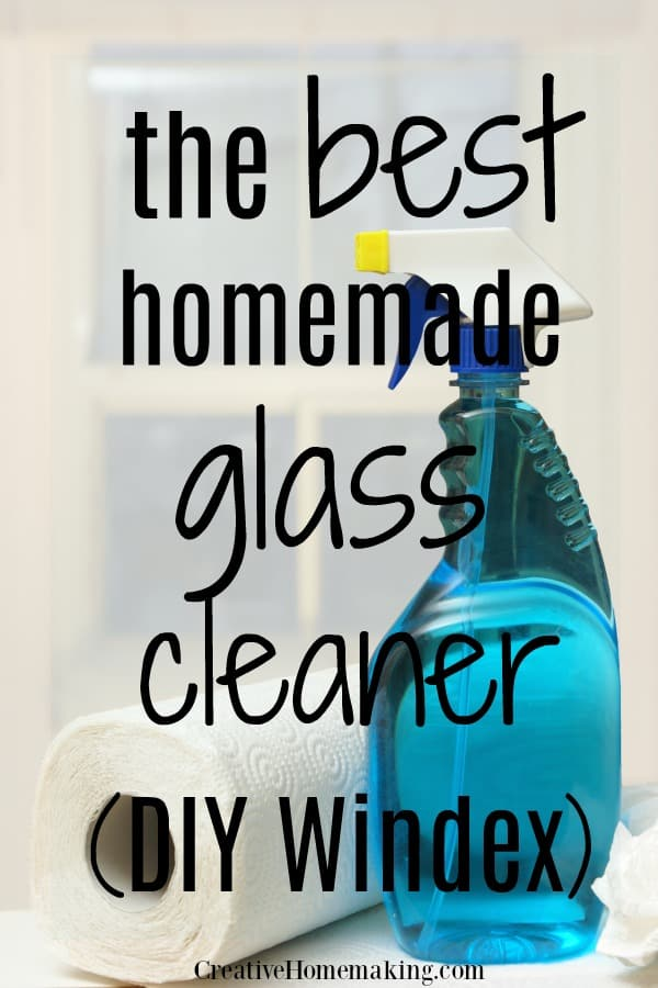 The best homemade glass cleaner. This DIY Windex window cleaner recipe will leave your windows smear and streak free!