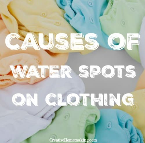 62102df795 Mysterious Water or Bleach Spots on Clothing - Creative Homemaking