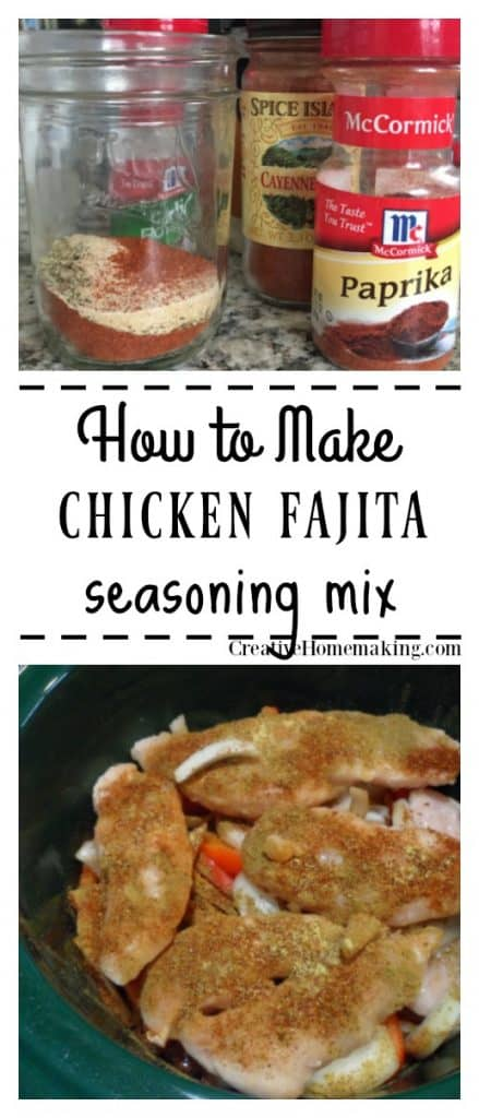 This chicken fajita seasoning is a definite must have for your list of mixes to make from scratch. It's inexpensive and tastes better than store bought.