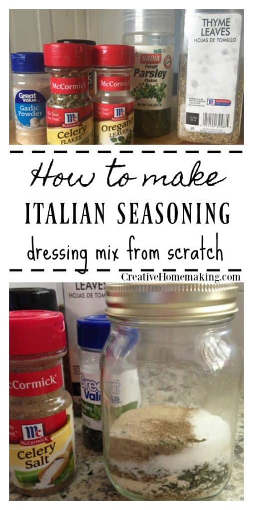 Recipe for easy Italian dressing mix to make from scratch.