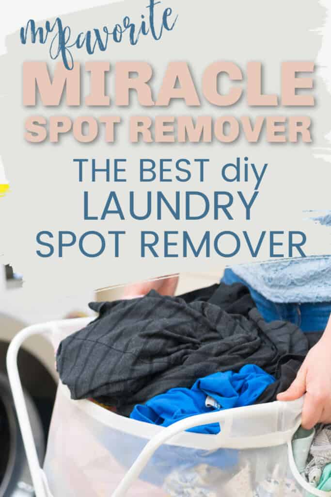 This homemade spot remover really does the job, and it is very inexpensive and easy to make. Removes yellow underarm stains, blood stains, and more.