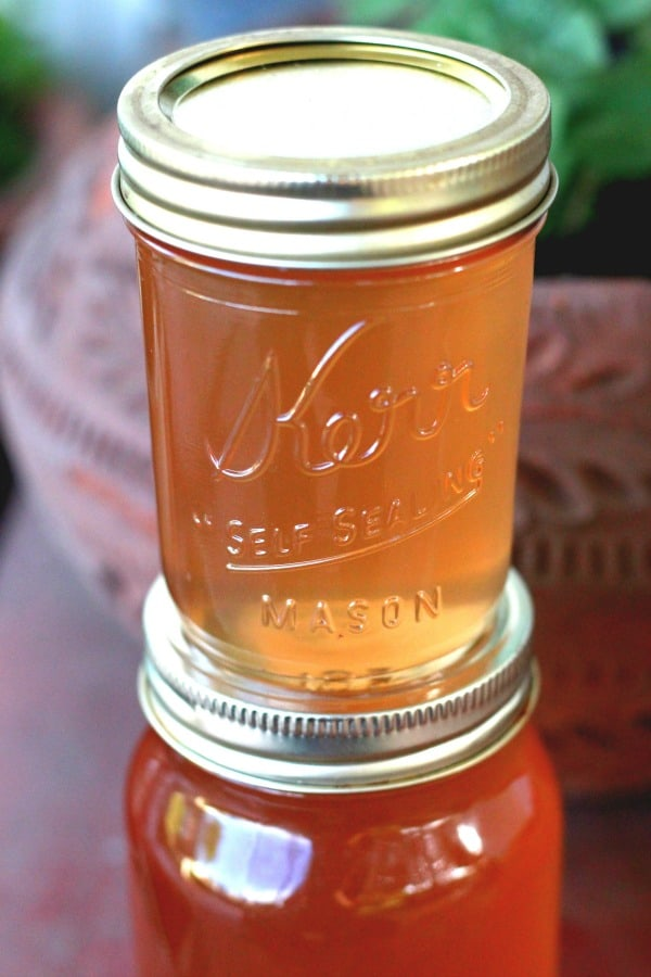 Easy recipe for canning lilac jelly.