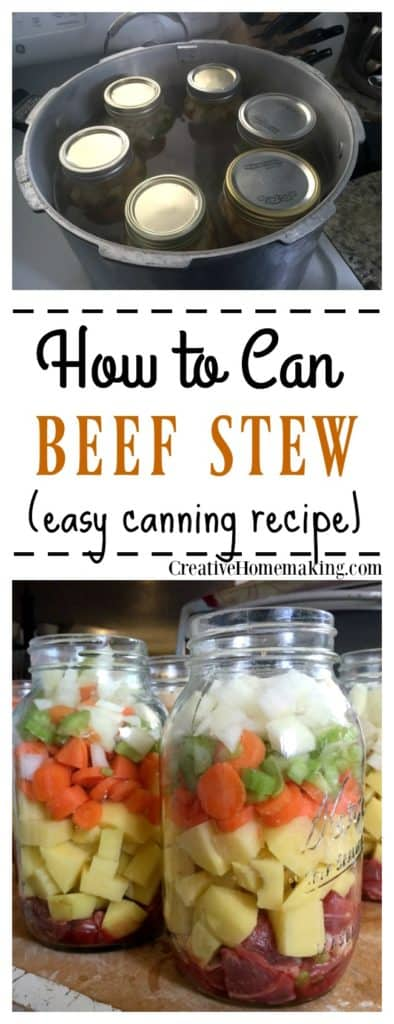 Easy recipe for canning beef stew
