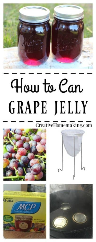 Easy recipe for canning grape jelly.