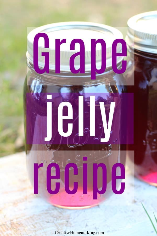 Easy recipe for canning homemade grape jelly.