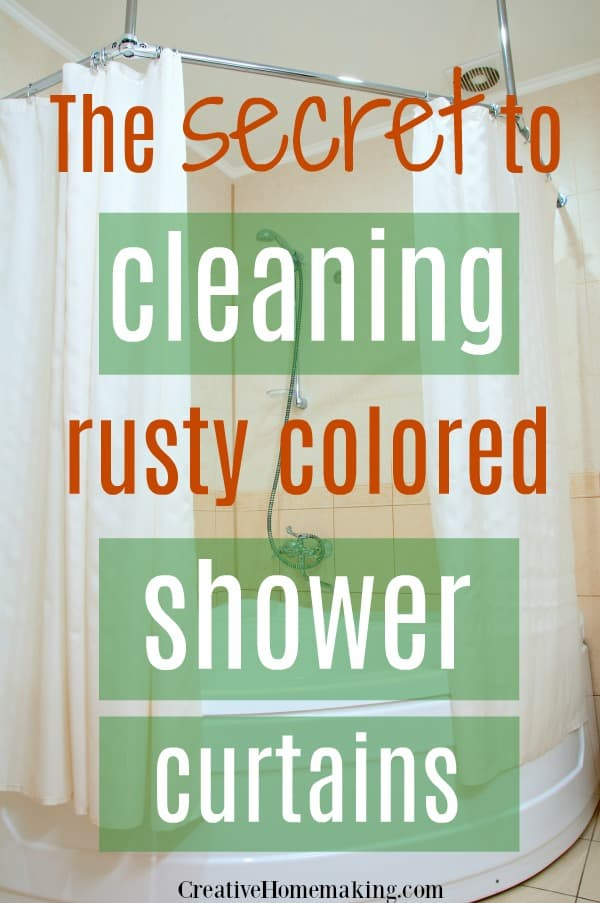 My favorite cleaning hacks for washing rust colored shower curtains and shower curtain liners. Find out what makes rust stains disappear like magic!