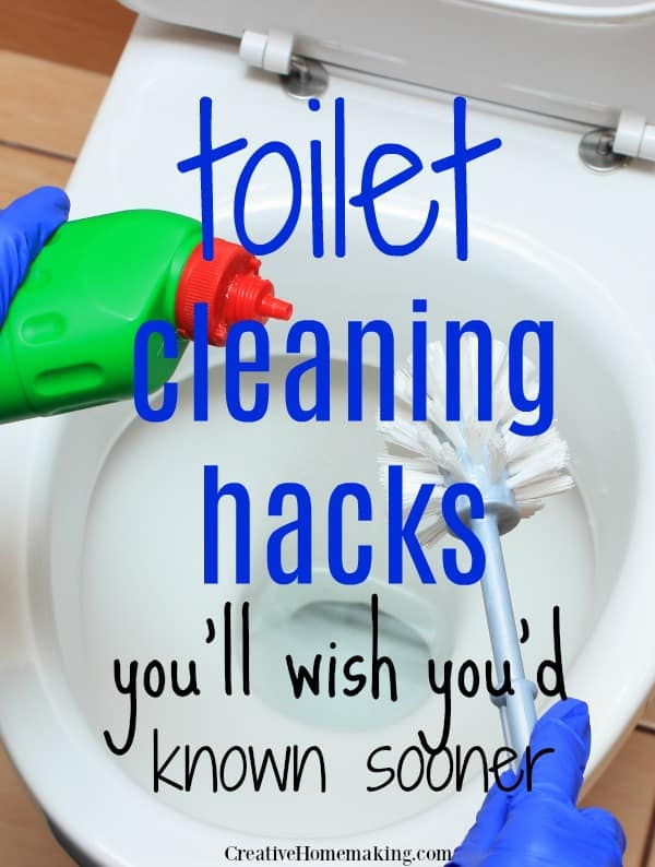 My favorite toilet cleaning hacks! These bathroom cleaning hacks will get your toilet sparkling clean in no time.