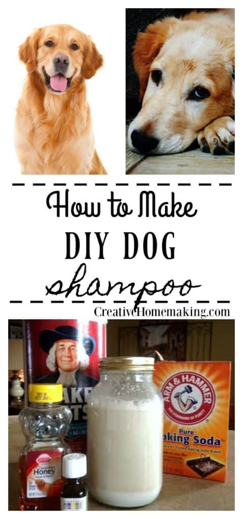 Easy DIY dog shampoo recipe made from oatmeal and tea tree oil.