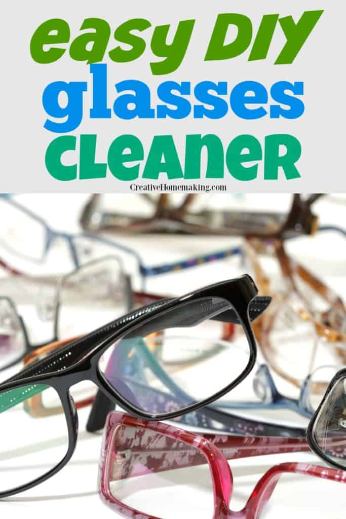 Easy DIY glasses cleaner. The best homemade glasses cleaner made with rubbing alcohol.