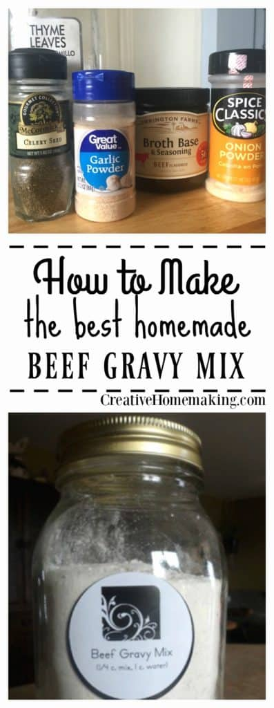 This homemade beef gravy mix is easy to make and easy on the budget.