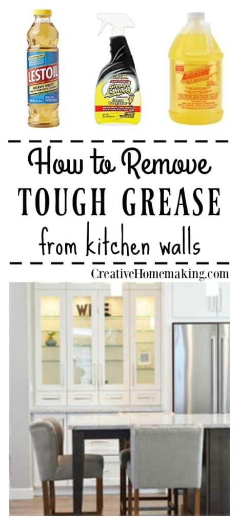 Removing grease from painted kitchen walls.