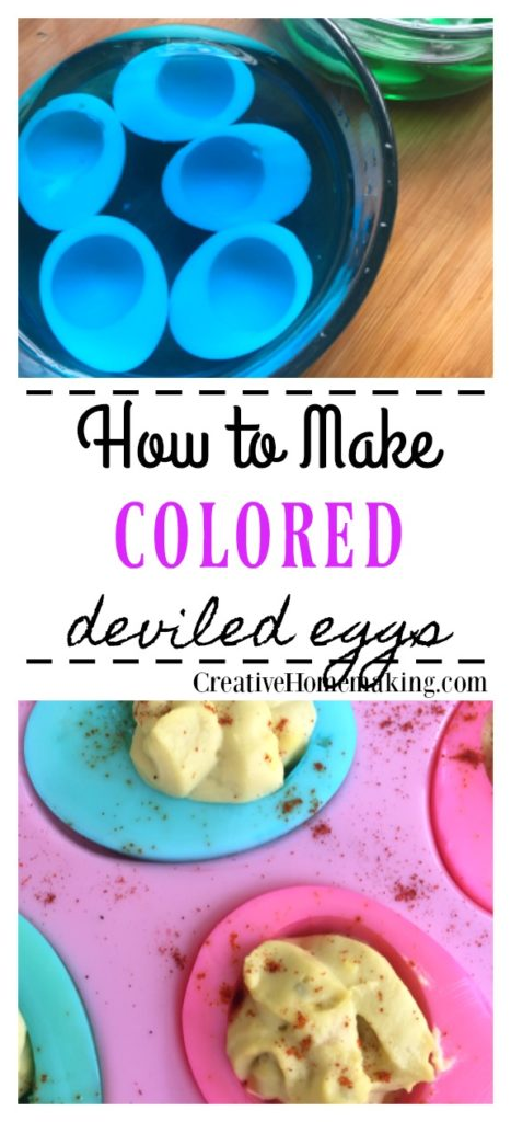 How to make colored deviled eggs. One of my favorite easy appetizer recipes for Easter.