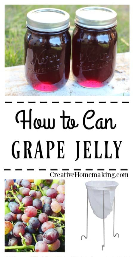 Canning grape jelly. Learn how to can grape jelly like grandma used to make. Easy recipe for beginning canners.