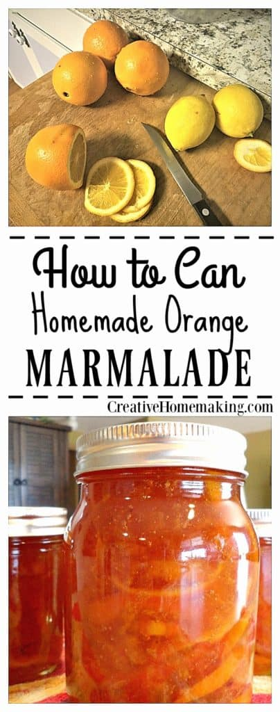 Learn how to can homemade orange marmalade. This orange marmalade recipe is very easy to make, and requires no added pectin.