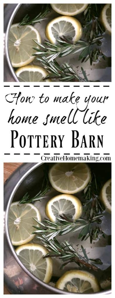 How to make your house smell like Pottery Barn