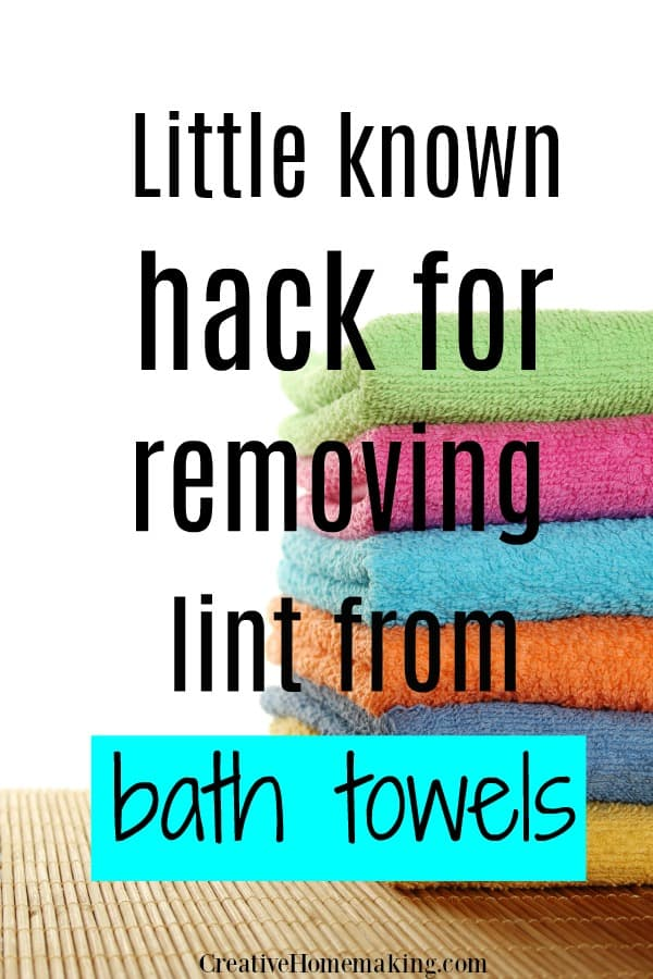 Easily remove lint from bath towels this clever laundry hack!
