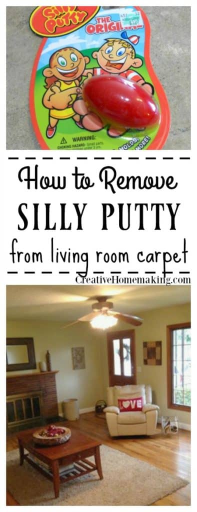 removing silly putty or slime from carpet