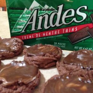 These Andes Mint cookies are really easy to make and great to give away as gifts for the holidays. Share them at a Christmas cookie exchange!