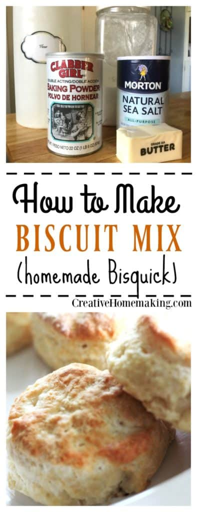 How to make homemade biscuit and baking mix to use in recipes that call for Bisquick.
