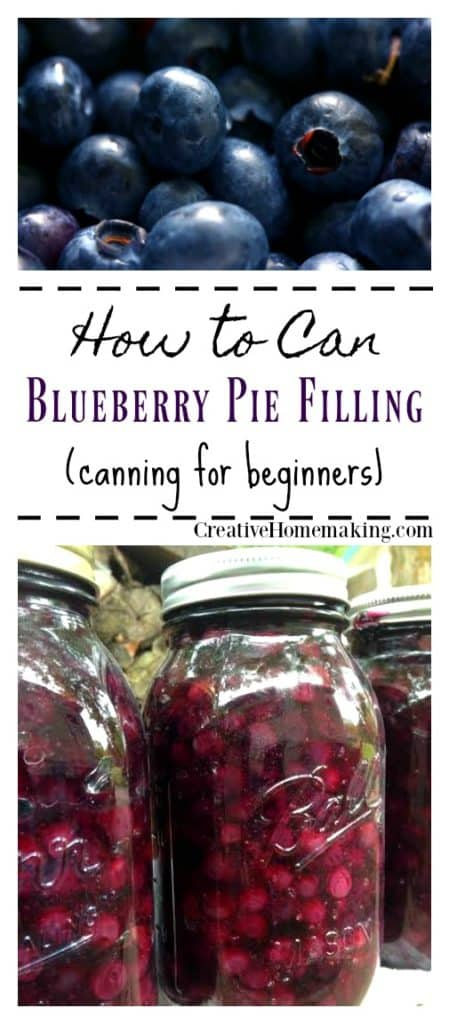Canning blueberry pie filling, easy recipe for making and canning homemade blueberry pie filling from fresh blueberries.