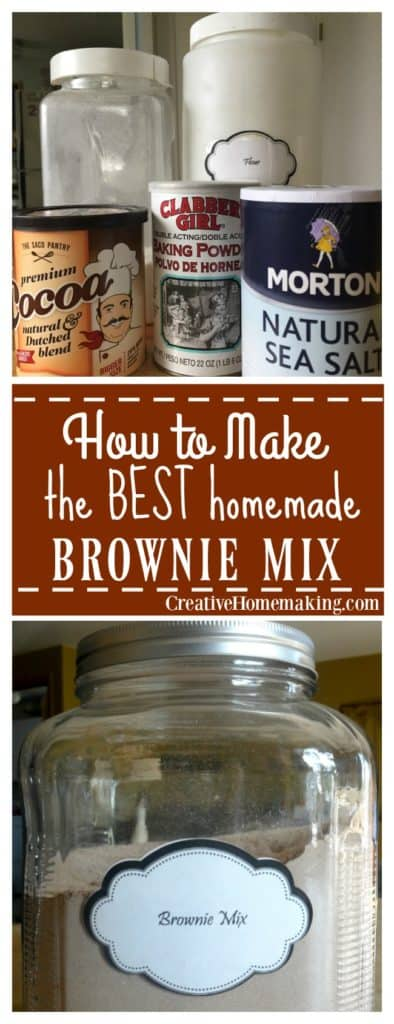 Easy recipe for homemade brownie mix. A great inexpensive alternative to store bought mixes.