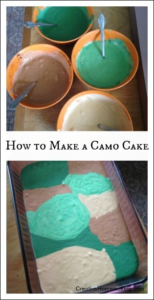 How to Make a Camo Cake Creative Homemaking