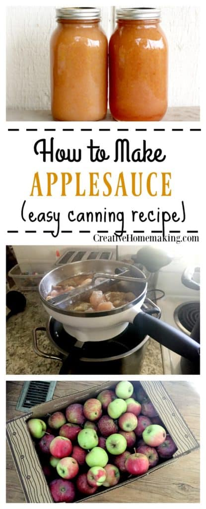 Canning homemade applesauce. How to make and can homemade applesauce from apples picked straight from the tree.