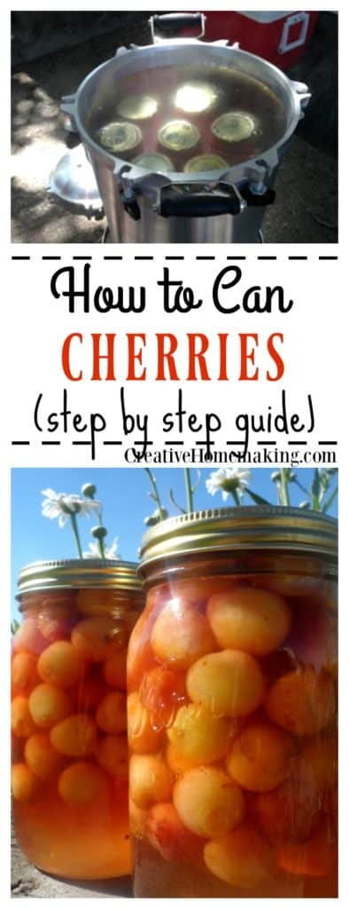 Canning cherries. Learn how to can cherries so that you can enjoy them all winter long.