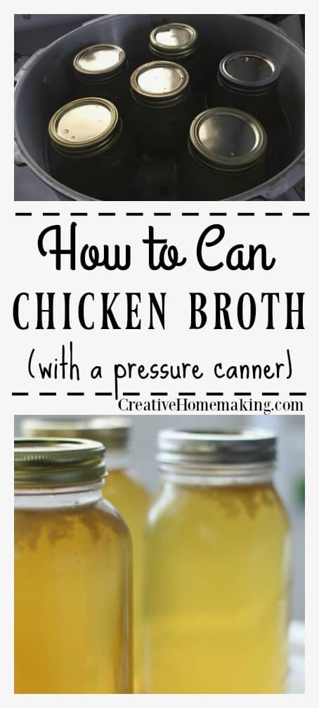 Canning homemade chicken broth. How to make homemade chicken broth to can or freeze.