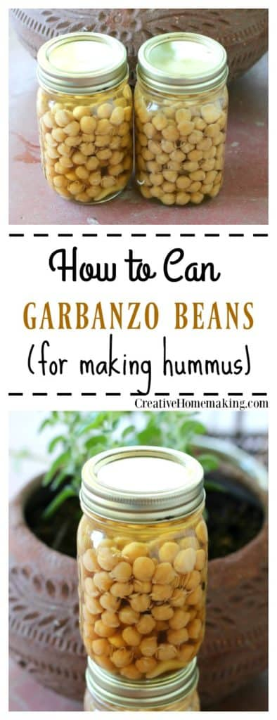 How to can garbanzo beans (chick peas) to make homemade hummus. Step by step pressure canning for beginners.