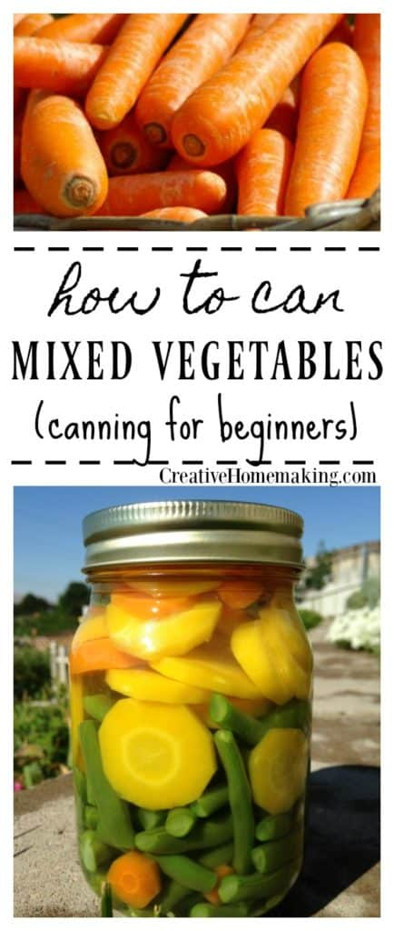 Canning mixed vegetables. Learn how to preserve your garden vegetables by canning this delicious combination of mixed vegetables. Pressure canning for beginners.