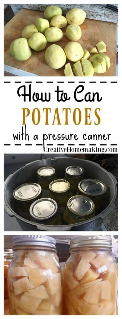How to can potatoes from the garden. Step by step pressure canning for beginners.