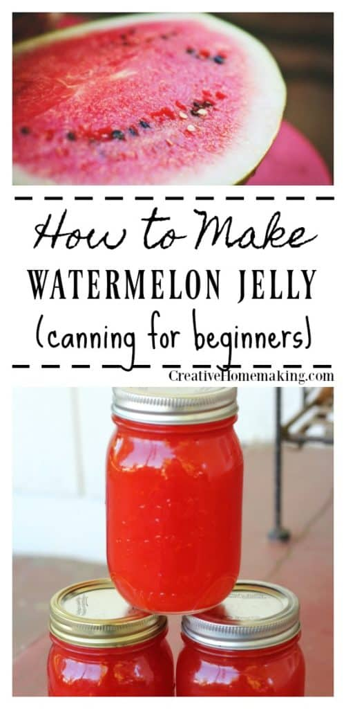 Canning watermelon jelly for beginners. This watermelon jelly is very easy to make and has a wonderfully light melon flavor.