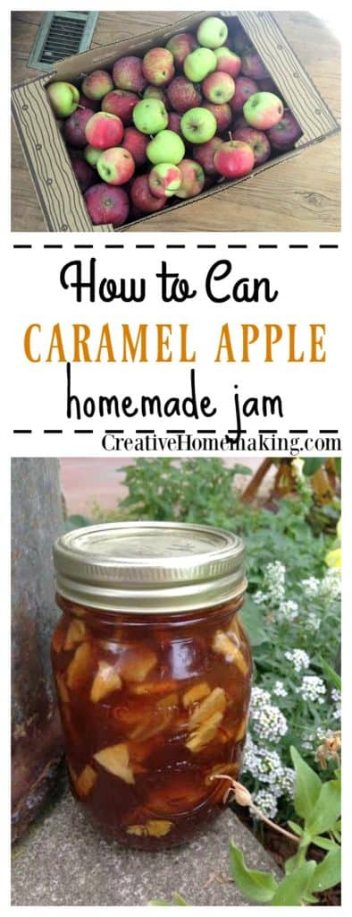 The best recipe for canning homemade caramel apple jam.