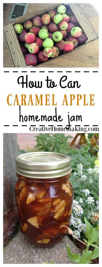 The best recipe for canning homemade caramel apple jam.
