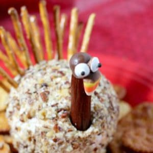 Thiis cheeseball turkey recipe is one of my favorite Thanksgiving appetizers ideas.
