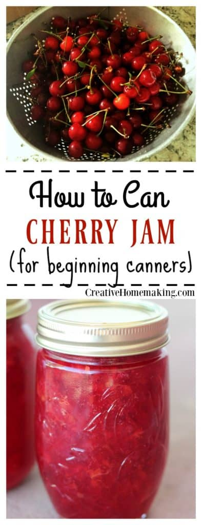 Tips for making and canning homemade cherry jam with liquid pectin.