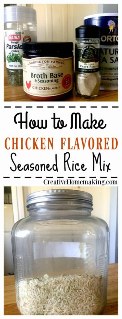 Easy, inexpensive recipe for chicken rice mix.