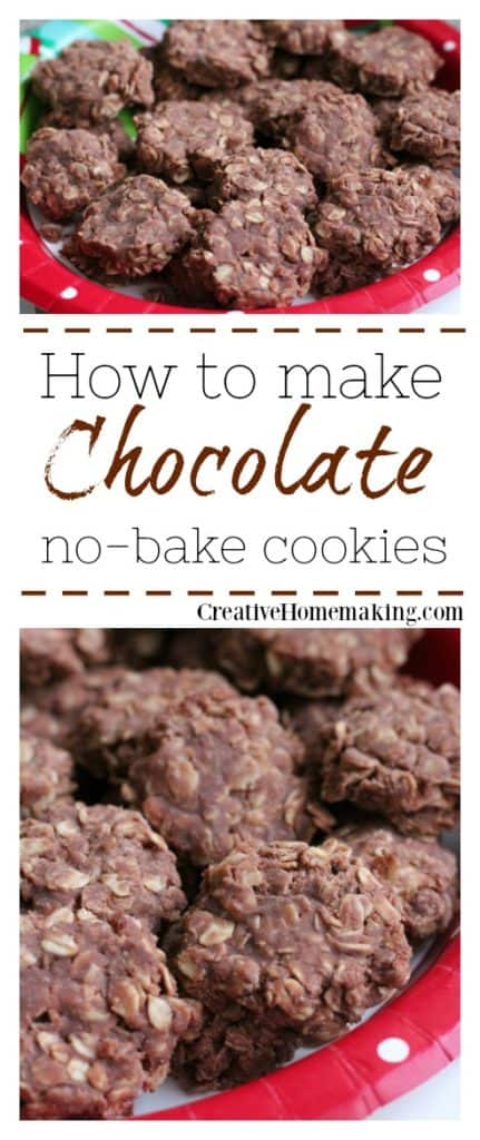 Easy chocolate no-bake cookies that turn out perfect every time.