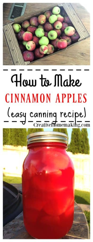 If you like cinnamon pears then you will love cinnamon apples. These are easy to make and your family will ask for more!