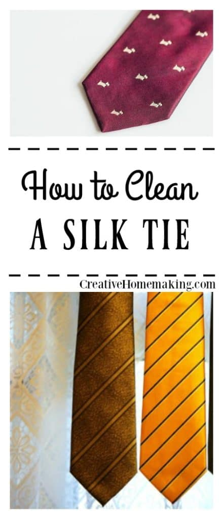Stain on your favorite silk tie? It is easy to spot clean silk ties with these expert tips.