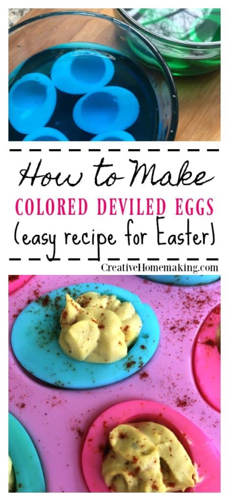 Colored deviled eggs! Surprise your family and friends this Easter with these colored deviled eggs.