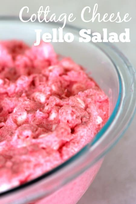 This easy cottage cheese Jello salad is an easy side dish to make for summer barbecues.