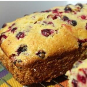 Easy cranberry orange bread to bake and freeze ahead for the holidays.