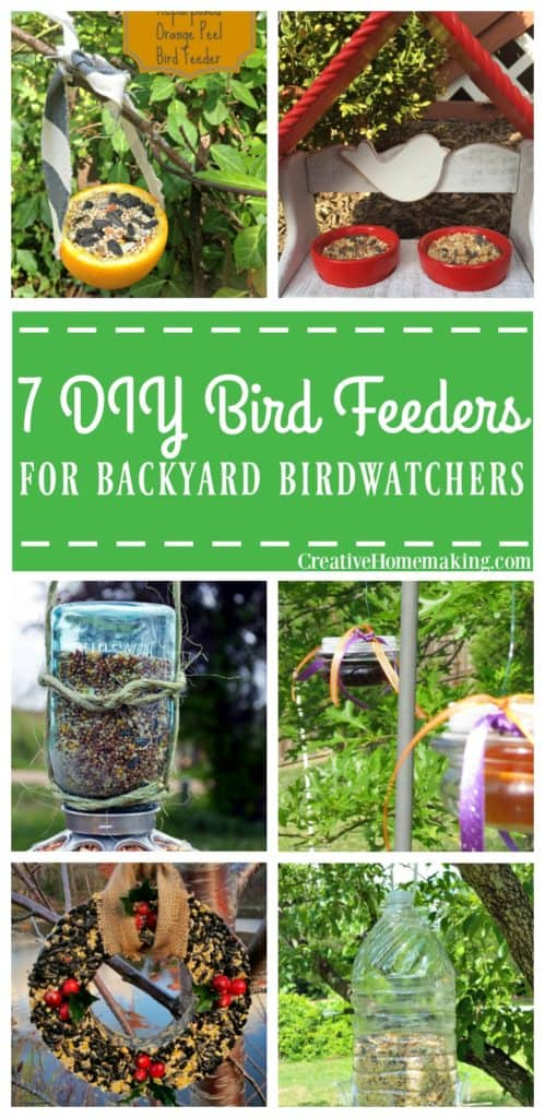 Seven easy bird feeders amateur birdwatchers can make for their backyard today.