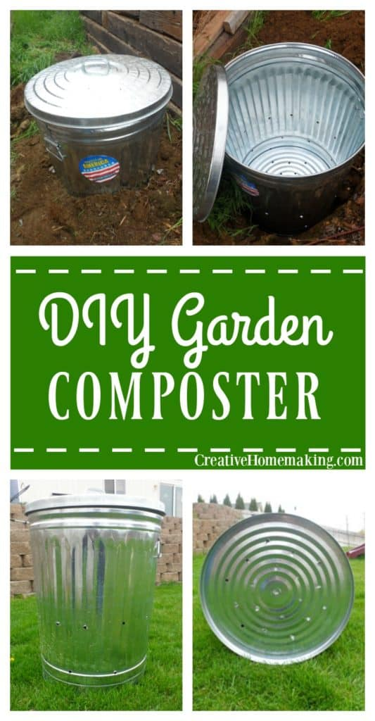 Tips for making your own backyard composter from a galvanized metal garbage can.