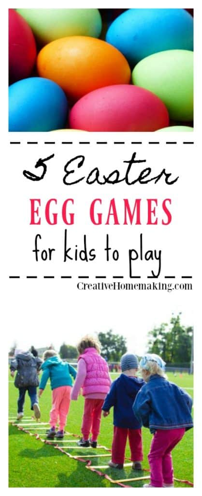5 fun traditional Easter egg games that can be played in the classroom or playground.
