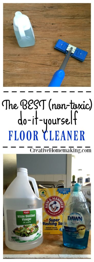 The best homemade tile and laminate floor cleaner. Made with ingredients you probably already have on hand.