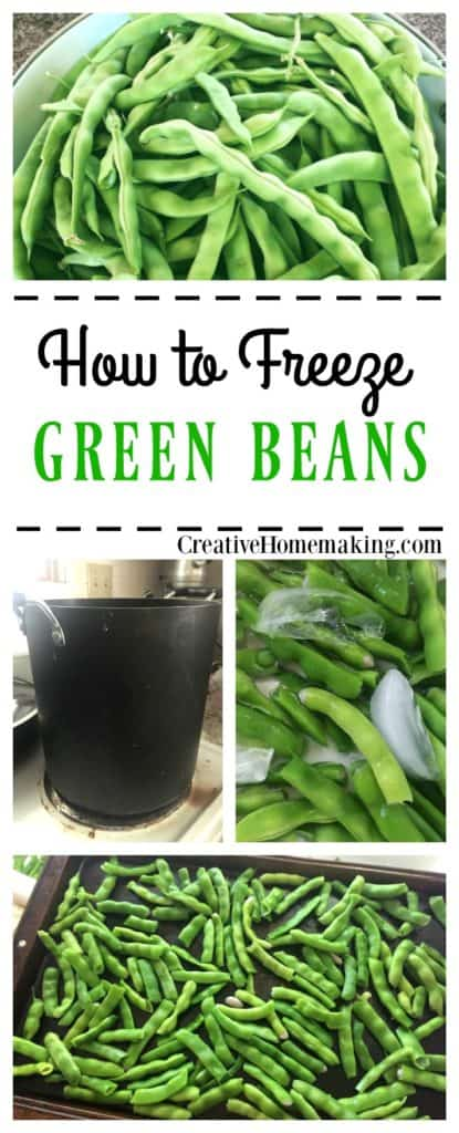 It's green bean season! Learn how to freeze the green beans from your garden with these easy step-by-step instructions.