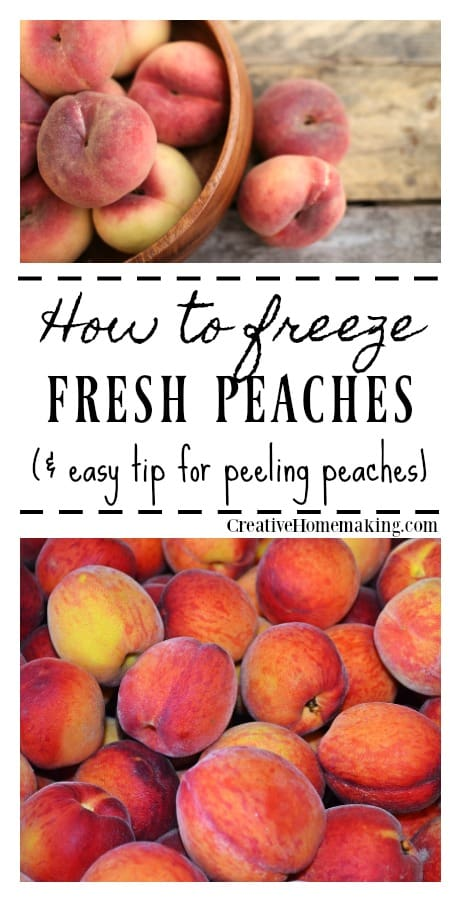 Freezing peaches is easy with these helpful tips. Learn how peel peaches easily and effortlessly!